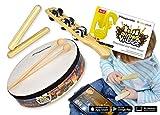 Voggenreiter Percussion-Set für Kinder ab 6 Jahre inkl. Rhythmic Village Lernsoftware App für...