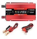 500W Auto Inverter Square Wave Converter DC12V / 24V bis AC 220V, Leistu Auto-Wechselrichter ngswechselrichter mit einem Kühlventilator und mehreren Schutzfunktionen