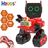 HBUDS Fernbedienung RC Roboter für Kinder, Wiederaufladbare Touch Sound Control Robotik Spielzeug,...