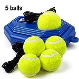 Aegilmctoys 5 Balls Tennis Trainer Set, Trainingsball Zubehör Geräte Tennis Ball Rebound Ball...