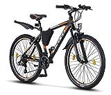 Licorne Bike Effect (Schwarz/Orange) 26 Zoll Mountainbike, MTB, geeignet ab 150 cm, Shimano 21...