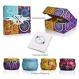 Yinuo Candle Duftkerzen Aromatische Kerze Geschenkset, 4 Packung, 500g, 120 Brennstunden,...