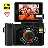 Digitalkamera mit WiFi Videokamera 24,0 MP Blogging Kamera 2,7K Ultra HD 3,0 Zoll Camcorder HD mit...