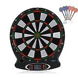 SOULONG Elektronisches Dartspiel Bersaglio für elektronische Dartpfeile mit LED-Anzeigen und...