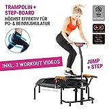 HAMMER Fitness-Trampolin JumpStep, Flexibles und gelenkschonendes Step-Board, aufstellbar,...