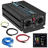 1000W KFZ Reiner Sinus Spannungswandler - Auto Wechselrichter 12v auf 230v Umwandler - Inverter...