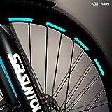 Motoking Fahrrad-Reflektorenaufkleber - Hellblau - 26 Aufkleber im Set - Breite: 7 mm -...