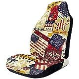 Autositzbezüge Antique Usa Flags American Vintage Vordersitzbezüge Satteldecke Sitze Cover...