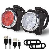 ZhiWei LED Fahrradlicht Set, USB Wiederaufladbare Frontlicht und Rücklicht Set, LED...