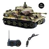 YouCute Mini RC Panzer mit USB Ladekabel Fernbedienung Panzer Panzer 1:72 Deutscher Tiger I mit...