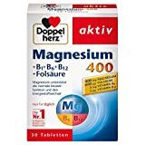 Doppelherz Magnesium 400 + B1 + B6 + B12 + Folsäure – Magnesium für die Muskeln, das...