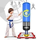 Dripex Boxsack Kinder Freistehender Standboxsack MMA Boxpartner Boxing Trainer Heavy Duty Boxsack...