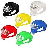 kashyk 6PCS LED Lampe Licht LED Sicherheitslicht LED Fahrradlampem, Blinklicht Taschenlampe mit 3...