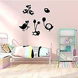 Vogel PVC Wandtattoo Kinderzimmer Dekoration Dekoration Deko-Accessoires Wandbild 28x31cm