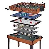 Mendler Tischkicker HWC-E12, Tischfussball Billard Hockey 7in1 Multiplayer Spieletisch, 82x107x60cm...