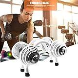 Dreameryoly Hantelständer Metall Stahl Hantelablage Racks Gewicht Rack Storage Stand für Home Gym...