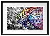 Picati schön gezeichnete Fische Bilderrahmen mit Galerie-Passepartout   Format: 55x40cm   garahmt  ...