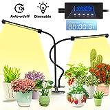 Lovebay Pflanzenlampe 20W 40 LEDs, Automatische Zeitschaltuhr Sonnenlicht Pflanzenlicht Lampe...
