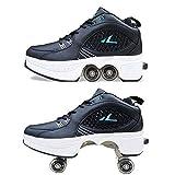 HealHeatersⓇ Zweireihiges Rad Rollschuhe Schuhe Mädchen Jungen Kinderrad Turnschuhe Laufschuhe...