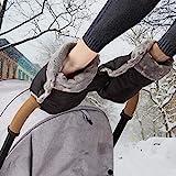Handwärmer Kinderwagen Handschuhe Handmuff mit warme Fleece und Baumwolle Innenseite Wasserdicht und Winddicht Stroller Handmuff Universalgröße für Kinderwagen, Buggy (1-Muttermilchmuschel, Schwarz)