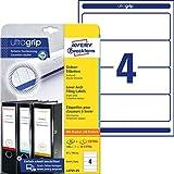AVERY Zweckform L4761-25 Ordnerrücken Etiketten (mit ultragrip, 61 x 192 mm auf DIN A4, breit/kurz,...