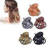 Klaue Clips, 5 STÜCKE Elegante Haarspangen Haargreifer Vintage Einfache Unregelmäßige Rutschfeste...