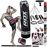 RDX Boxsack Gefüllt Set Kick Boxing MMA Schwere Trainingshandschuhe Stanzen Handschuhe Hängen...