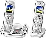 Panasonic KX-TGJ322GW Familien-Telefon mit Anrufbeantworter/ Duo Telefon mit Mobilteil, schnurloses...