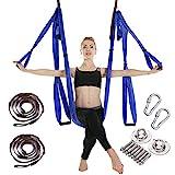 MANLI Clean Dell Yoga Hängematte Set Luftseide Yoga Set Safe Deluxe Aerial Kit Yoga...