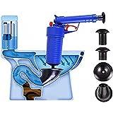 ZXZXZX Ablaufpumpe Abflussreiniger Luftdruck Saugglocke Abfluss mit 4 Saugnäpfen Vakuum Saugpumpe Druckreiniger Hochdruck Reinigungspumpe Rohr Reinigung Werkzeug für Badezimmer Küche