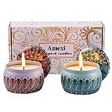 Amexi Duftkerzen, Anti Moskit Kerze, 100% Sojawachs Kerze für draußen und innen, 40Std, Kerzen Set...