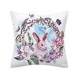 BURFLY Easter Rabbit Print Kissenbezug Polyester Sofa Car Kissenbezug Home Dekoration Mode Platz...