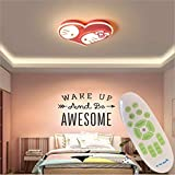 Xiao Cartoon Kinderzimmer Lampe Acryl Decke Hohe Transmission Warmes Licht LED-Lampe (Size : 60 * 60...