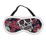 Buntes Sugar Skull Ornament Blume Nahtloses Muster Schlafmaske Schlafmaske Augenmaske Augenmaske...