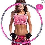 Aoweika Hula Hoop zur Gewichtsreduktion,Reifen mit Schaumstoff ca 1 kg mit Mini Bandmaß,...