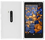 mumbi Hülle kompatibel mit Nokia Lumia 920 Handy Case Handyhülle, transparent Weiss