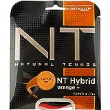 Dunlop Unisex– Erwachsene Tac NT Hybrid 1.31/1.27mm Tennissaiten, Schwarz/Orange, 1.39/1.27 mm