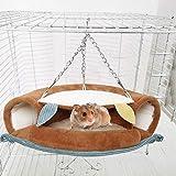 Jatour Hamster Hängematte, Hängebrücke mit Hängematte für Mäuse, Hamster etc. Tunnel Tube Rat...