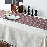 LT Fashion Home Student Schreibtisch Tuch Hit Farbe Baumwolle Leinen Tischdecke Farbe Gestreift...