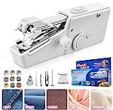 Handheld Nähmaschine, Mini handliche schnurlose tragbare Nähmaschine, Mini Nähmaschine für Kinderkleidung, Zuhause, DIY Zubehör (Batterie nicht im Lieferumfang enthalten)