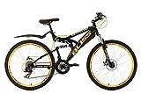 KS Cycling Mountainbike Fully 26'' Bliss schwarz-gelb RH47cm