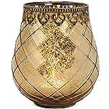matches21 Windlicht Teelichtglas Kerzenglas Orientalisch Gold antik Glas/Metall Vintage - 3 Größen...