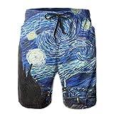 Belongtu Van Gogh Starry Night Men's Boy's Casual Quick-Drying Beach Pant Swim Board Shorts Herren...