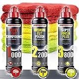 Detailmate Auto Politur Set - Menzerna Autopolitur 250ml: Super Heavy Cut Compund HC1000 + Medium...