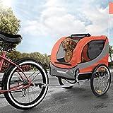Happypet Hundeanhänger Fahrradanhänger für Hunde Hundefahrradanhänger inkl. Anhängerkupplung...