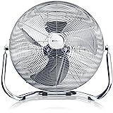 Brandson - Windmaschine Retro Stil 120 Watt - Ventilator in Chrom - Standventilator 50cm -...