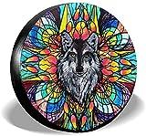 Meine Katze Psychedelics Flower Wolf Autoreifenabdeckung Universal Reserverad Reifenabdeckung...
