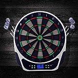 LIN-Reliable Elektronische Dartscheibe Dartautomat mit LCD-Anzeige Turnierscheibe mit 18 Spielen und...