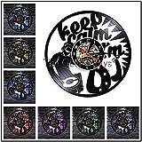 FDGFDG Ich Liebe es Vinyl Schallplatte Wanduhr Klassische Hip Hop Disk DJ Turntable Wanduhr Moderne...