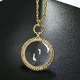 mswdm Halskette Geschenk Für Damen Frauen Lange Kette Halsketten 2X Zoom Objektiv Anhänger Für...